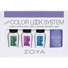 manicure colour lock system nail polish treatment set