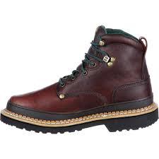 men u0027s brown leather lace up work boot georgia boot g6274