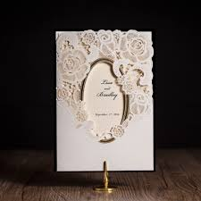 White And Gold Wedding Invitation Cards Aliexpress Com Buy New Style Pure White With Gold Foil Cover