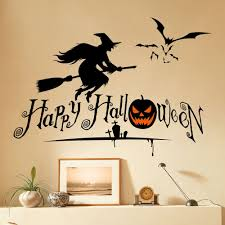 home decor halloween witch shape diy wall stickers black in wall home decor halloween witch shape diy wall stickers black