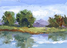 palette knife landscape painting by tom brown