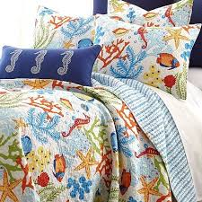 Fish Themed Comforters Tropical Fish Coral Starfish Seashell Quilt Set