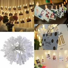 amazon com ledmomo 40 led photo clip string lights christmas