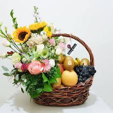 basket arrangements customised fruit basket arrangements lou flower studio