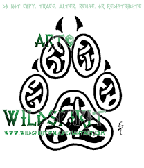 knotwork paw print by wildspiritwolf on deviantart