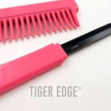 Pink Kitchen Knives Classic Pink Hidden Blade Comb Knife Women U0027s Self Defense U0027s Gift