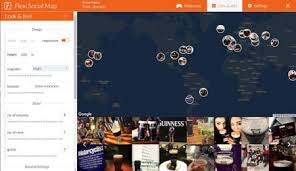 flexi social map for wordpress display your instagram photos on a map