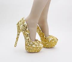 wedding shoes gold color louchunlan shoes women s shoes pumps gold wedding shoes bling high