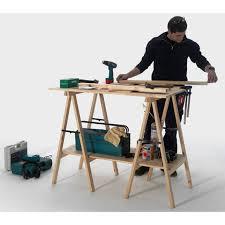 bureau avec treteau plateau de table et tréteau aménagement bureau au meilleur prix