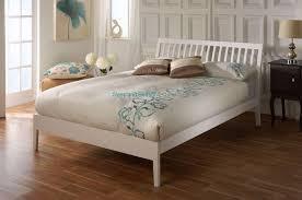 white wooden bed frame ananke bed 5ft kingsize