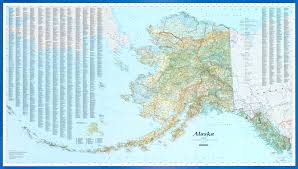 Alaska Inside Passage Map by Alaska Wall Map By Imus Geographics