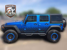 jeep wrangler graphics wrangler stripes jk graphics streetgrafx 2007 2017 jeep jk 4 door wrangler rocker complete graphic kit