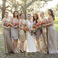 chagne bridesmaid dresses 10 ways to rock sequin bridesmaid dresses at your wedding