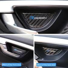 Car Decoration Accessories For Volvo Xc60 V60 S60 4pieces Set Real Carbon Fiber Car Inner