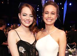 emma stone and jennifer lawrence friends j law brie larson and emma stone s friendship saved larson s life