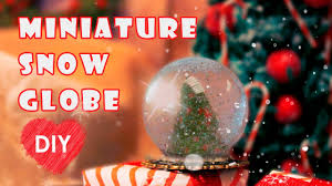 snowglobe miniature for dollhouse diy youtube
