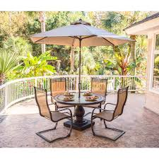 Patio Spring Chair by Monaco 5 Piece Outdoor Dining Set With C Spring Chairs Tile Top