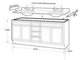 Standard Bathroom Vanity Sizes by Specs For Standard Bathroom Vanity And Cabinet Tsc