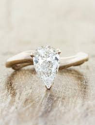 pear engagement ring pear sculptural pear shaped diamond ring ken design