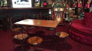 ice cream parlor table and chairs set 1900s ice cream parlor table chair set for sale 3 495 youtube