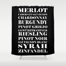 black white and typography shower curtains society6