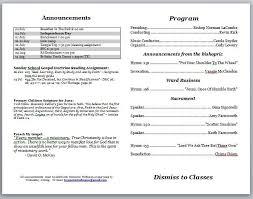 church programs template sunday church program template template idea