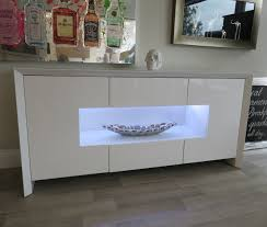 White Gloss Sideboards Soho White Gloss Led Display Sideboard Nicholas John Interiors