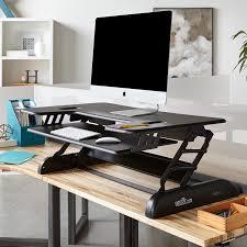 Sit Stand Desk Adapter Varidesk Europe Height Adjustable Standing Desks