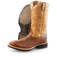 men u0027s rocky dually crepe ex4 round toe western work boots rust