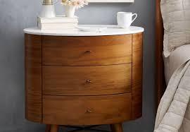 furniture nightstand white drawer mid century modern vintage