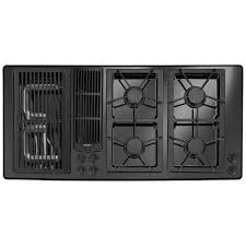Downdraft Cooktops Jgd8345adbjenn Air 45 Downdraft Gas Cooktop Black On Black