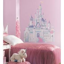 Giant Wall Stickers For Kids Roommates Disney Princess Glitter Castle Peel Stick Giant Wall