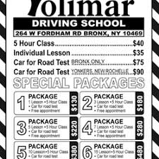 5 hr class bronx ny yolimar driving school driving schools 264 w fordham rd