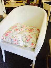 lloyd loom style wicker tub chair painted in annie sloan chalk