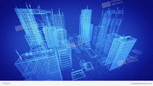 design blueprints architectural blueprint of contemporary buildings blue tint stock