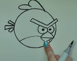 draw red angry bird angry birds u2013 art