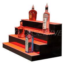 led lighted bar shelves 34 4 step led lighted bar shelf liquor bottle display color