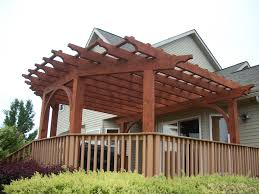 How To Build A Pergola On An Existing Deck by Southeastern Michigan Custom Pergolas Photo Gallery By Gm