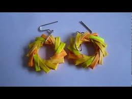 handmade paper earrings paper jewelry handmade origami wreath earrings http