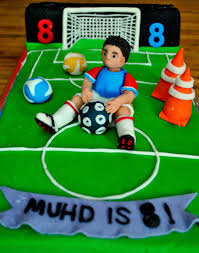 Combination Of Blue by Football Soccer Cake Beach Oven More Than Cakes