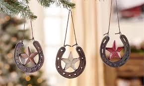 horseshoe ornaments horseshoe christmas ornaments western