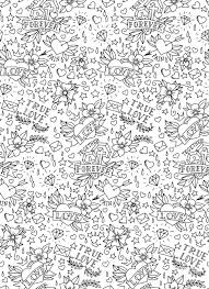 hand drawn valentines day tattoo pattern royalty free cliparts