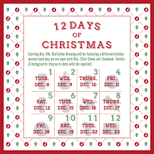 the 12 days of at rcb collar brewing company
