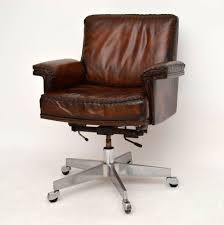 Desk Chair Leather Design Ideas Vintage Leather Office Chair Home Office Furniture Sets Www