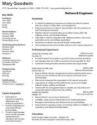 Database Administrator Resume Examples by Network Administrator Resume Sample Jennywashere Com