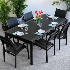 Garden Sofa Dining Set Clearance Violet Table Black 6 Seater Aluminium Garden Furniture