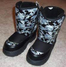 s insulated boots size 9 boys camo boots ebay