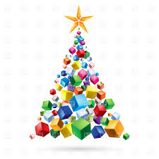 abstract christmas tree of gifts download royalty free vector file