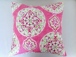 Pink Boho Linen Cushion Boho Pillows Bohemian Cushions