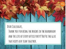 thanksgiving letter to colleagues five thank you notes for your coworkers pgi